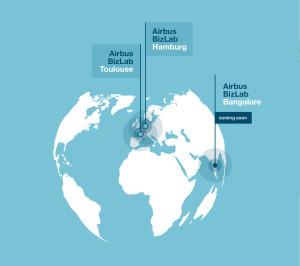 Locations of Airbus Bizlab accelerator program