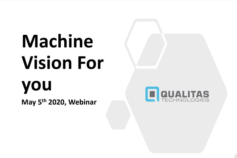 Machine Vision Webinar