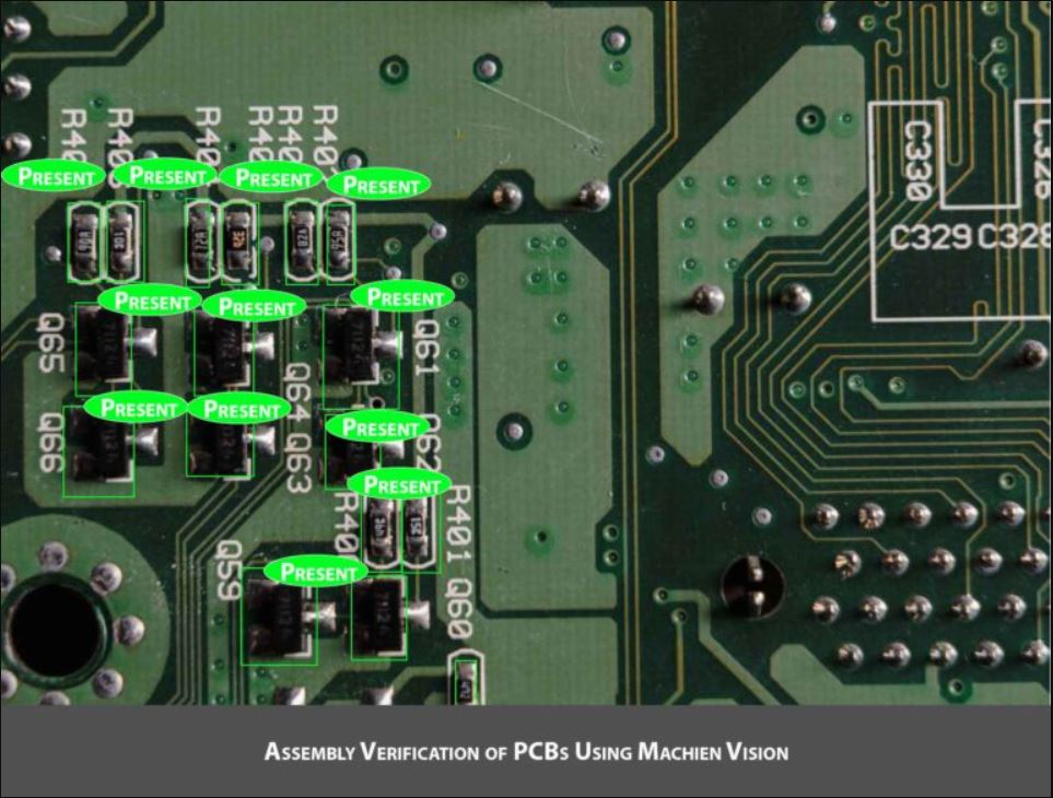 Assembly verification of PCBs using machine vision